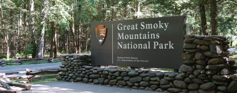 GSMNP entrance sign