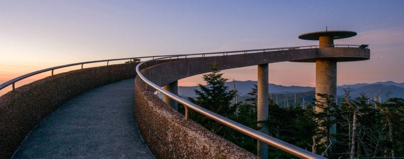 clingmans dome at sunrise
