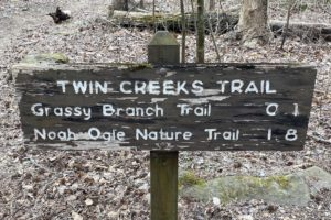 twin creeks trail sign
