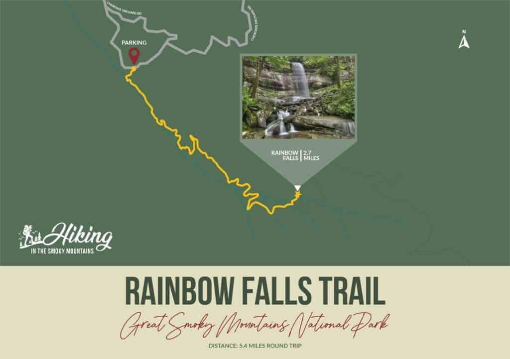 rainbow falls trail map